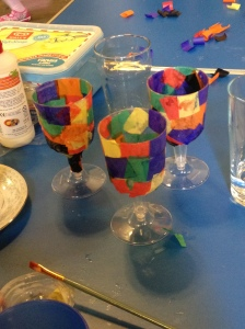 mosaic cups
