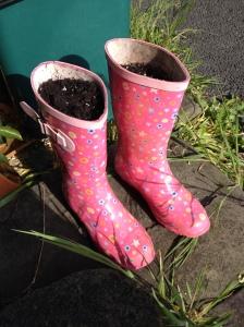 wellie planter