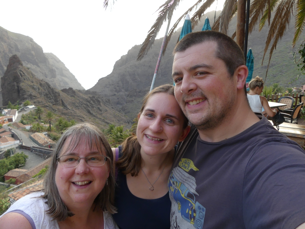 Mum, Steve and I in Tenerife, 2017